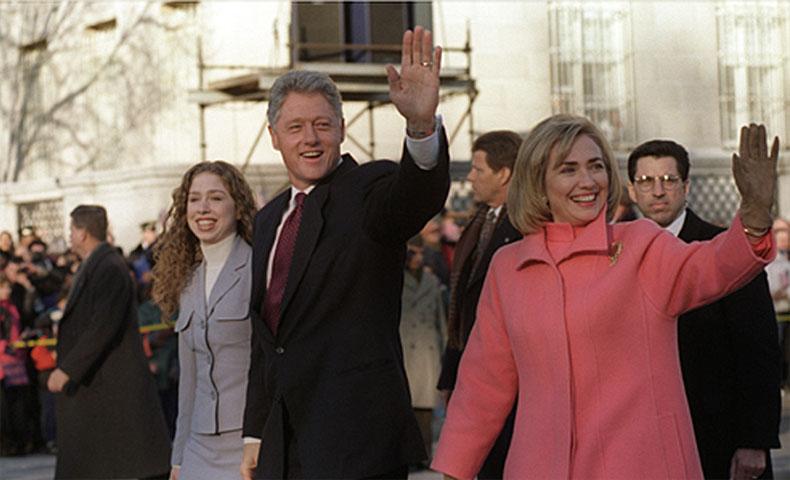 クリントン大統領とヒラリークリントン