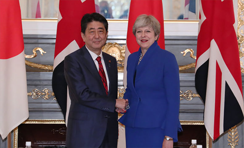 安倍総理とメイ首相