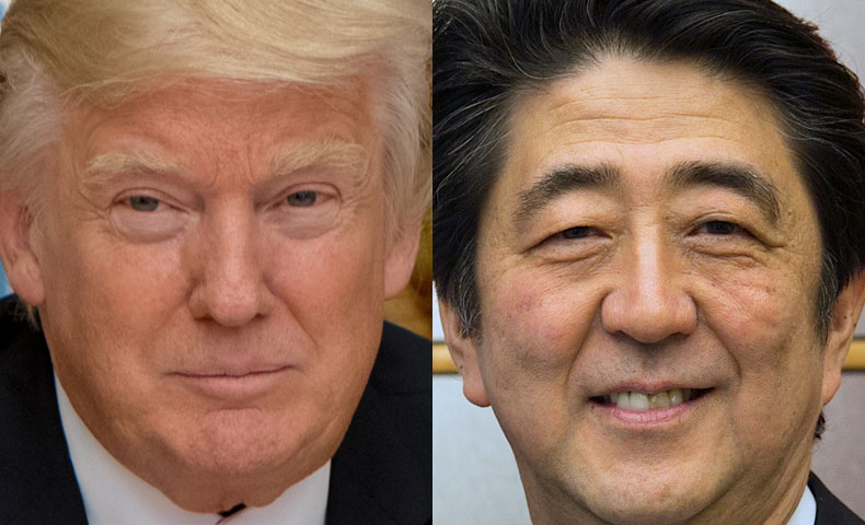 トランプ大統領と安倍総理